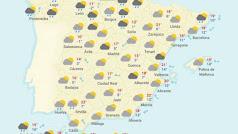 Previsión del tiempo en España para el lunes 30 de abril.