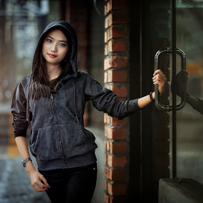 Rain.... by MSR Photography - People Portraits of Women ( model, girl, portraits of women, woman, outdoors )