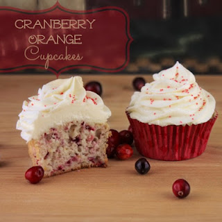 Orange Cranberry Cupcakes With White Chocolate