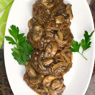 Salisbury Steak with Mushroom Onion Gravy.