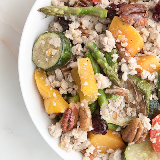 "Roasted Vegetable Grain-free ""Couscous""."