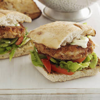 Cajun Spiced Chicken Burgers.