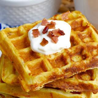 Bacon Cheddar Sour Cream Waffles