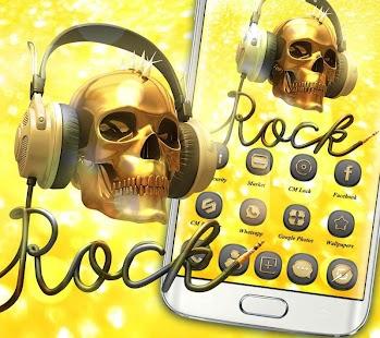 Golden Rock Skull - náhled