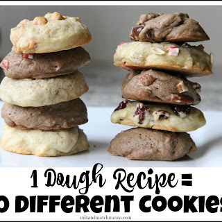 One Dough Recipe = 10 Different Cookies!