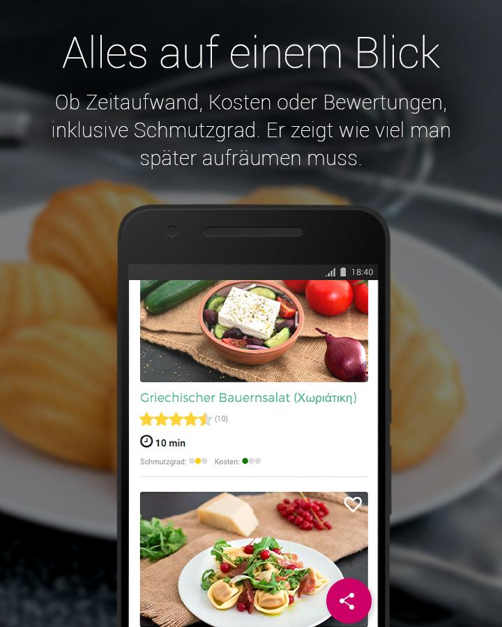 einfache rezepte zum kochen backen android apps auf google play. Black Bedroom Furniture Sets. Home Design Ideas
