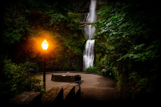 Photo: ALONE WITH THE FALLS  I'm at the Multnomah Falls as we speak. Did some early morning pictures and now some Photography Decathlon prep, some editing, some emails and figuring out where I should go next.  I'm thinking Portland LDS Temple for sunset.  Yep there was absolutely no one at the Falls at 5/6ish in the morning.