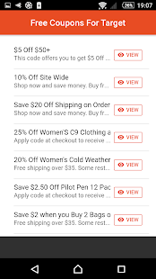 Coupons for Target - náhled