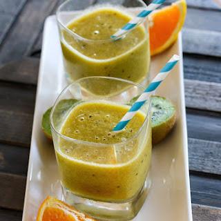 Homemade Orange Kiwi Electrolyte Citrus Slushy.