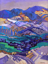 "Photo: ""Ridge Top Vista"", acrylic on linen 16"" x 12"", © Nancy Roberts"