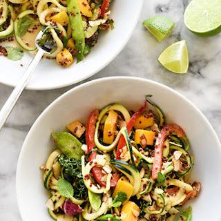 Thai Zucchini Noodle and Quinoa Salad
