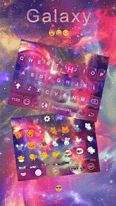 Galaxy Emoji keyboard Theme screenshot 2