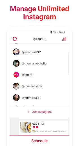 Foto do Apphi - Agende Posts para o Instagram