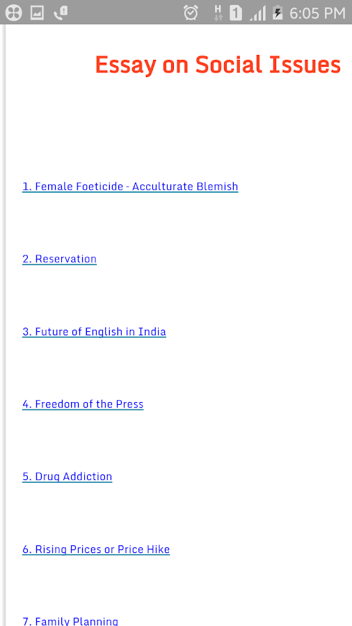 essay on social issues android apps on google play essay on social issues screenshot