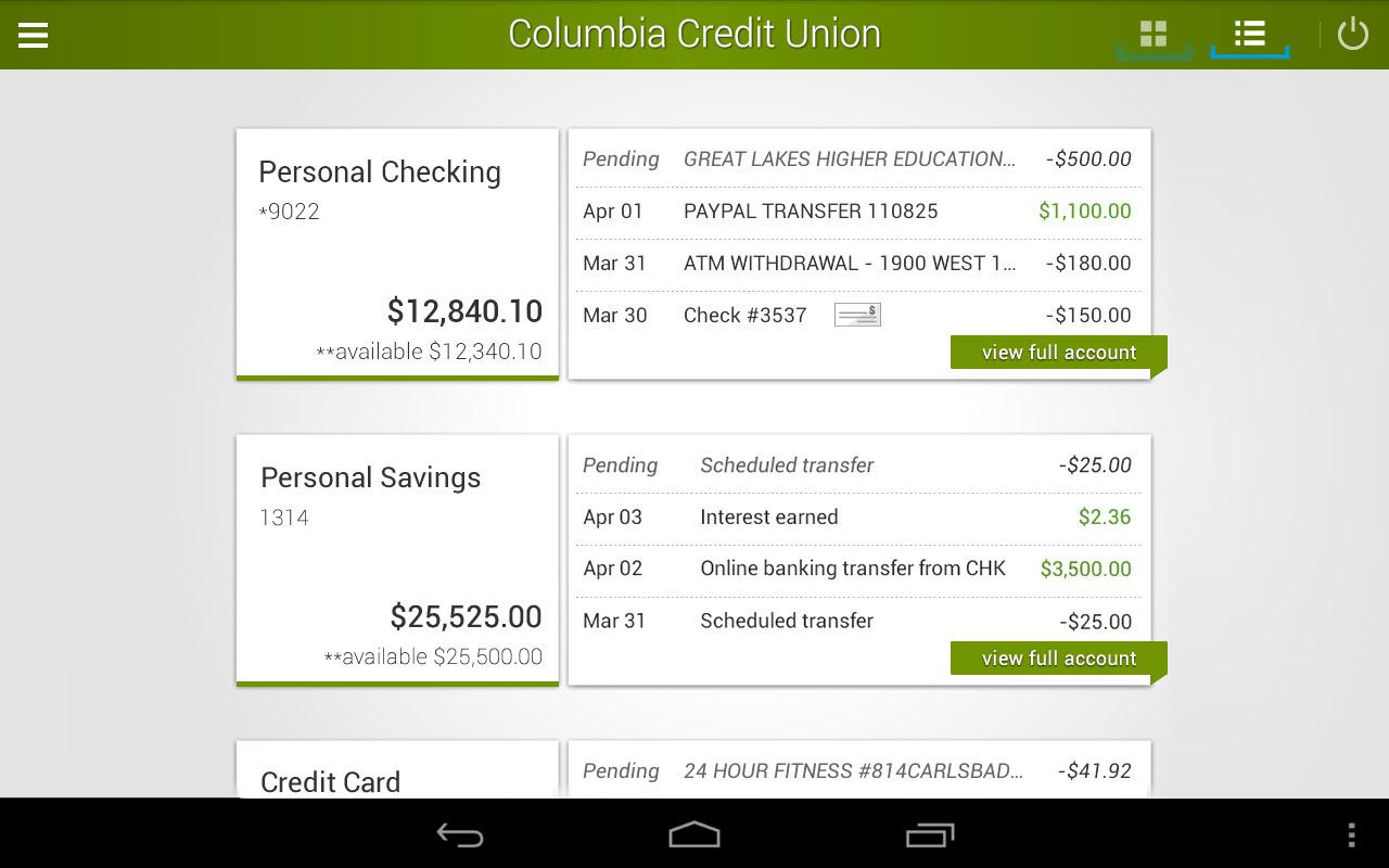 Columbiacu Personal Online Banking