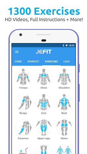 JEFIT Workout Tracker, Weight Lifting, Gym Log App 10.44 screenshots 1