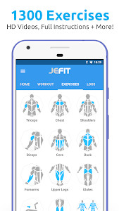 JEFIT Workout Tracker, Weight Lifting, Gym Log App 10.54