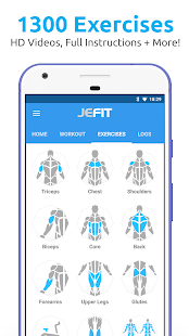 JEFIT Workout Tracker, Weight Lifting, Gym Log App – Apps on