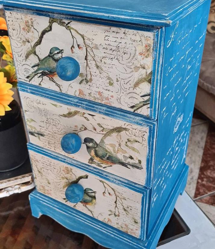 decoupage drawer