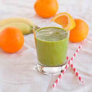 Spinach Orange Green Smoothie.