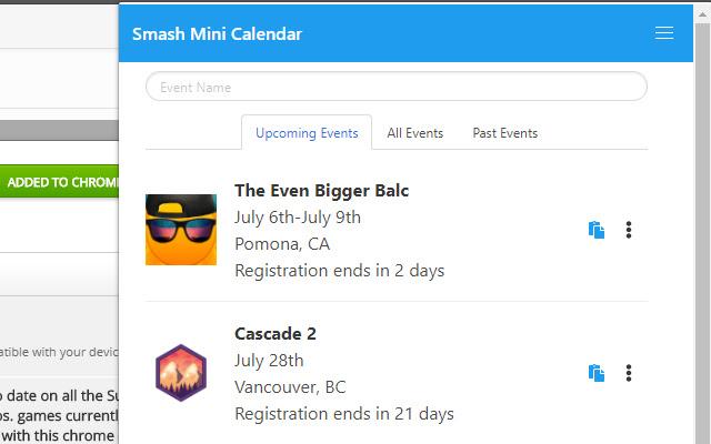 Smash Mini Calendar