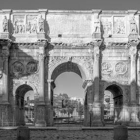 Gladiator by Iqbal Ahmed - Black & White Buildings & Architecture ( colosseum, rome, italy, ahmed, iqbal, gladiator )