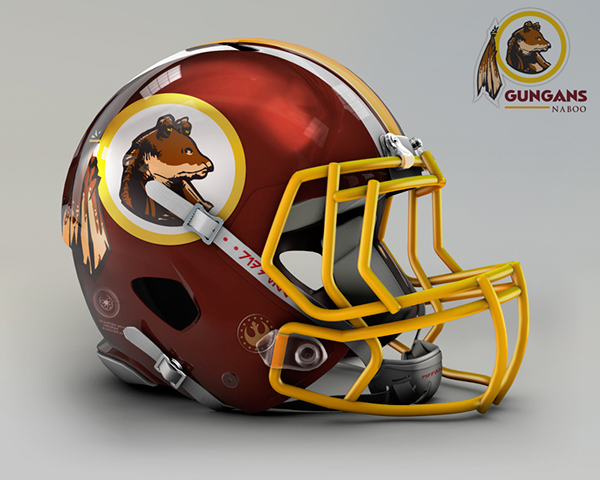 the-logo-of-national-east-naboo-gungans-is-an-illustration-mascot-logo-on-a-maroon-and-yellow-helmet