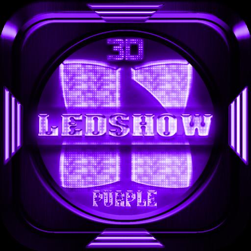 Next Launcher Theme LedShowPur