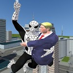 Flying Spider Boy Crime City Rescue: US President Icon