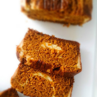Pumpkin Bread with Cream Cheese Swirl