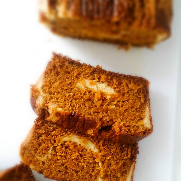 Pumpkin Bread with Cream Cheese Swirl Recipe | Yummly