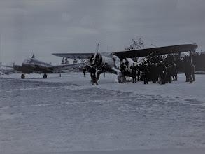 Photo: spustenie leteckej linky Bratislava - Košice / 1946   Vajnory