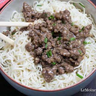 Asian Beef & Noodles.
