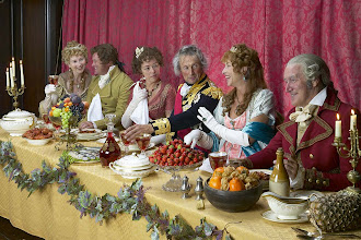 Photo: Dinner party guests include fanny, 3rd from left; nelson; emma and emma's husband sir william hamilton