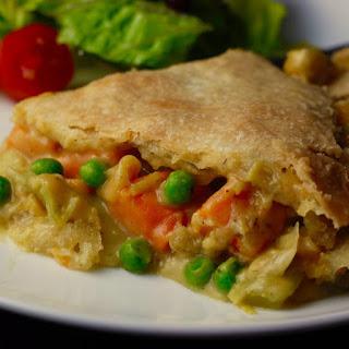 Vegan Seafood Pot Pie.