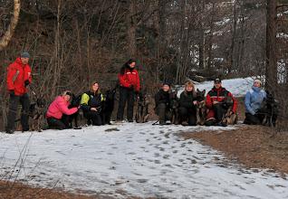 Photo: Hele B-gjengen på plass. F.v.: Narve og Bayla, Torhild og Bonnie, Aina og Vilma, Tanja og Kahn, Hanne og Balder, May-Camilla og Dakota, Roger og Bob, Line og Joy