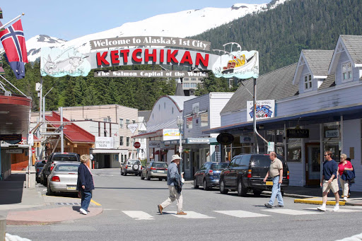 ketchikan.jpg - Welcome to Ketchikan, Alaska's first city and the self-proclaimed salmon capital of the world.