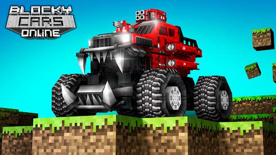 Blocky Cars Online Mod Apk 7.7.1 (Unlimited Ammo + God Mode) 1