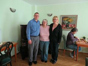 Photo: Matt, Carol, and Laurie on Carol's last day in Riga.