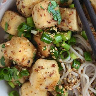 Szechuan Tofu With Soba Noodles [Vegan].