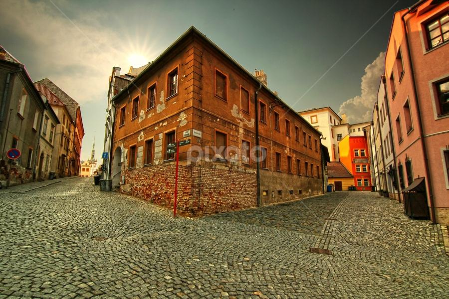Olomouc, Hrnčířská ulice by Irena Brozova - City,  Street & Park  Vistas ( pwcredscapes )