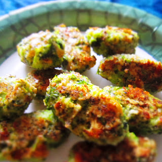 Broccoli Cheese Healthy Baked Tots