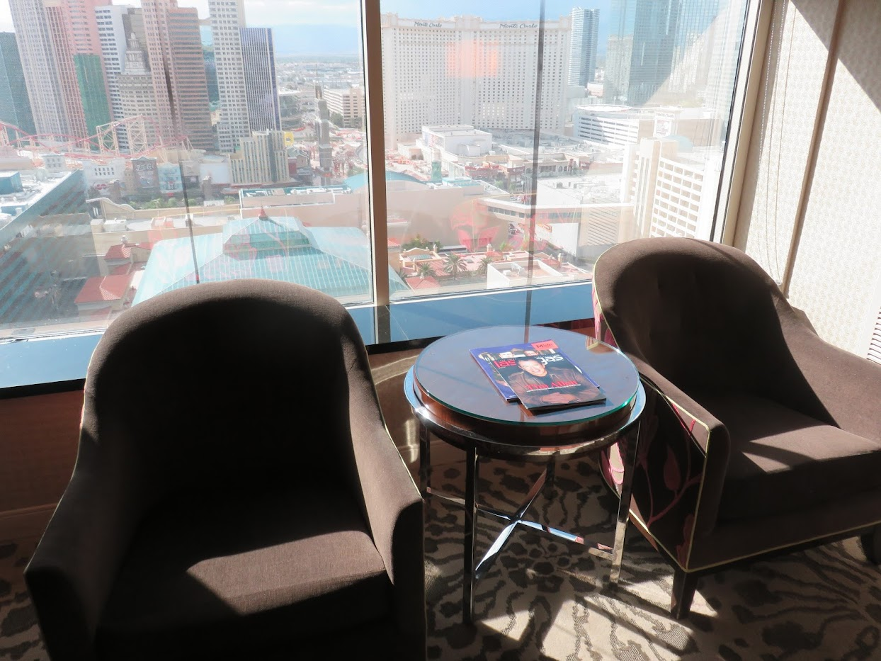 MGM Grand hotelkamer club fauteuils