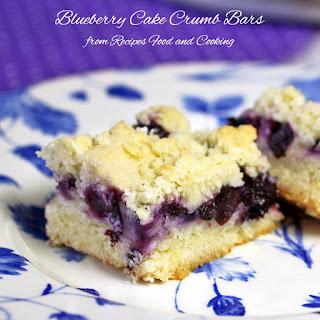 Blueberry Cake Crumb Bars.