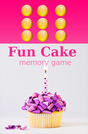 kids memory game: Fun Cake