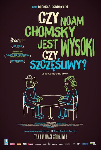 Przód ulotki filmu 'Czy Noam Chomsky Jest Wysoki Czy Szczęśliwy?'