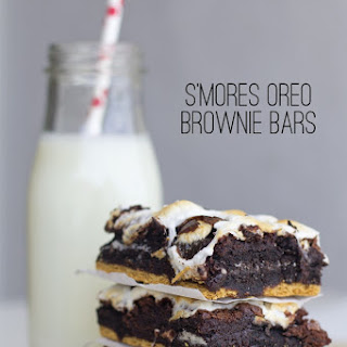 S'mores Oreo Brownie Bars.