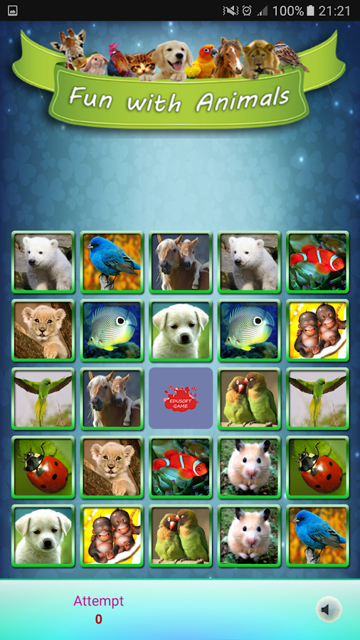 Fun With Animals Matching Game- screenshot