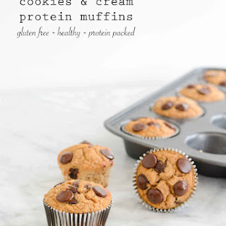 Cookies and Cream Protein Muffins.