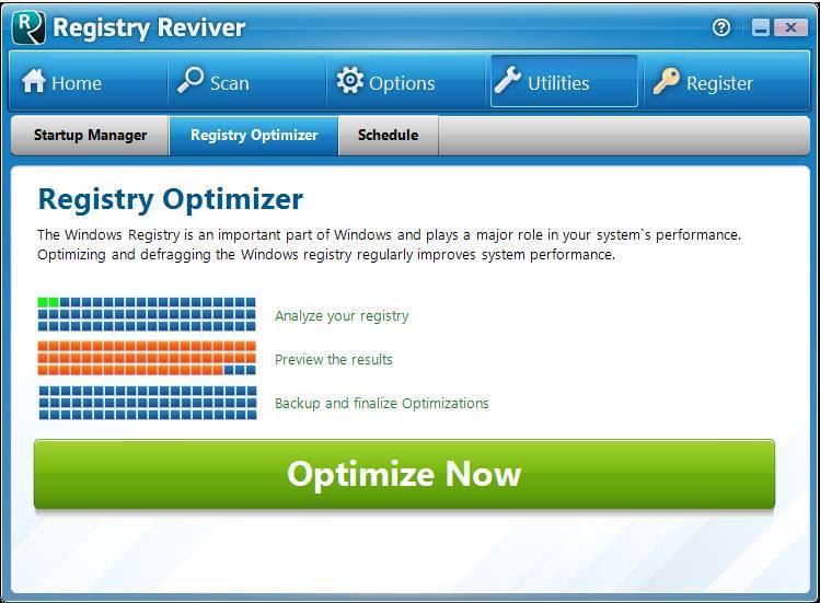 Phần mềm tối ưu hóa Registry Reviver cho máy tính